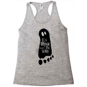 eat drink and be scary 2 Racerback Tank