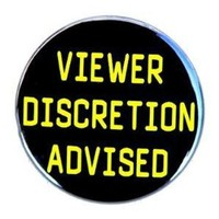 Viewer Discretion Advised  Button Pin by theangryrobot