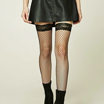 Fishnet Over-The-Knee Socks