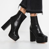 High heeled ankle boots - black - Zalando.co.uk