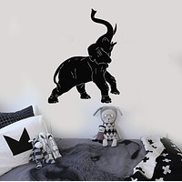 Wall Stickers Vinyl Decal Elephant African Animal Zoo Circus Decor Unique Gift (ig143)