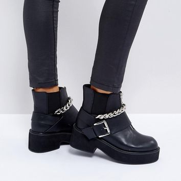 ASOS ROSSIE Chunky Hardware Boots at asos.com