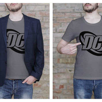 DC Comics Shirt - DC Comics Logo Shirt - Comic Book T Shirt - ScreenPrint - Graphic Tee - Geekery - Printed T Shirt - Fandom Shirt
