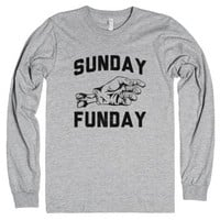 Sunday Funday (Walking Dead Style)-Unisex Heather Grey T-Shirt