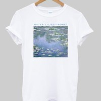 WATER LILIES MONET shirt