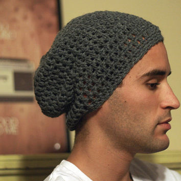 PATTERN: Simple Men's Slouchy Beanie Crochet