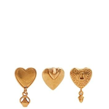 Collected Hearts set of three earrings   Chloé   MATCHESFASHION.COM US