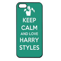 Keep Calm and Love Harry Styles iPhone 5 case - iPhone 5 hard case, iPhone 5 cover, iPhone hard case