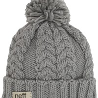 Chick&Stylish - neff Women's Kaycee Beanie Hat, Grey, One Size