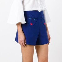 Vivetta Heart Embroidery Tailored Shorts - Farfetch