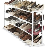 Whitmor 20 Pair Shoe Rack, White