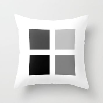 #37 Squares Throw Pillow by Minimalist Forms