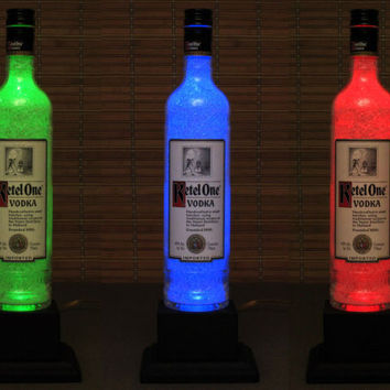 Ketel One Vodka Bottle Lamp Color Changing LED Remote Controlled Vodka  Eco Friendly RGB LED /Party Light  -Bodacious Bottles-
