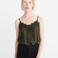Womens Lace-Trim Cami | Womens New Arrivals | Abercrombie.com