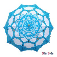 StarSide Lucky Blue Wedding Lace Parasol Umbrella