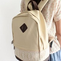 Fashion Cute Hansenne Lace Spliced Backpack from styleonline