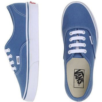 Vans Atwood Low Women's Black Canvas Skate Shoes Blue