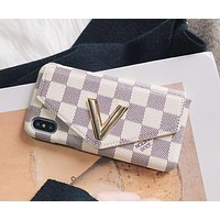 LV Louis Vuitton 2018 Men's and Women's iPhone 7Plus Wallet Phone Case F-OF-SJK #2