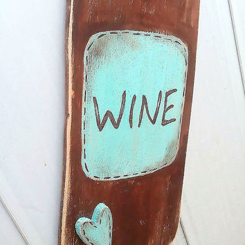 Wine Bottle Decor Sign Kitchen Decoration Wall Art Personalized
