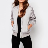 New Look | New Look Sateen Bomber at ASOS