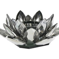 Smoke with Silver Crystal Lotus Tea Light Holder | Shop Hobby Lobby