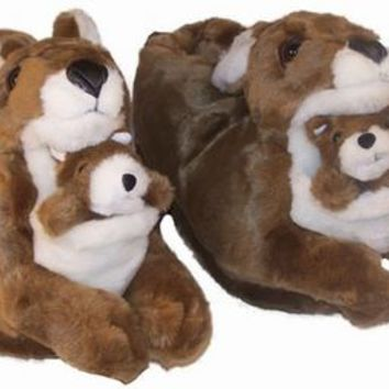 Kangaroo Animal Feet Slippers