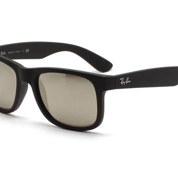 Sunglasses Ray-Ban RB4165 622/5A BLACK RUBBER/MIRROR GOLD LIGHT