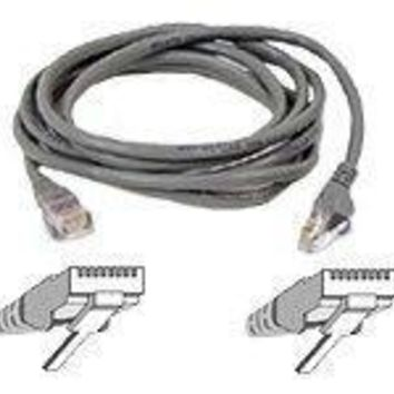 Belkinponents 5ft Cat5e Snagless Patch Cable, Utp, Gray Pvc Jacket, 24awg, T568b, 50 Micron, G