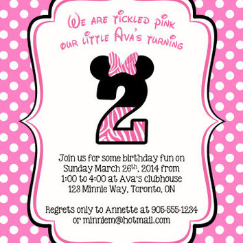 Shop Minnie Mouse Invitations on Wanelo