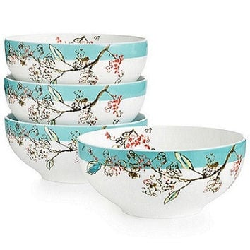 Simply Fine Chirp 4-Piece Dessert Bowls by Lenox