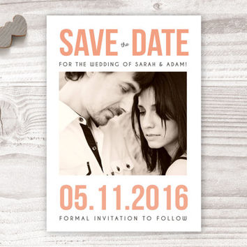 printable save the date, peach save the date, save the date, save date printable save date wedding, wedding save date, invitation invite