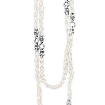 LAGOS 'Black & White Caviar' Agate Multistrand Necklace | Nordstrom