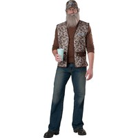 Duck Dynasty Uncle Si Costume - Adult (Brown/Copper)