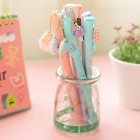 8pcs/lot kawaii gel pen candy color Cute Stationery gift School Supplies free shipping