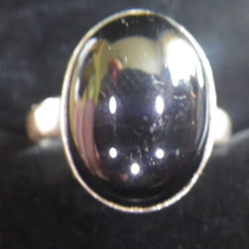 Sterling Silver Men's Onyx Signet Ring