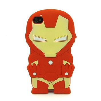 PEAPIX3 Universal Trading Superheroes & Superman series Design Cartoon Silicone case For Iphone 5C(Iron Man) = 1946672516