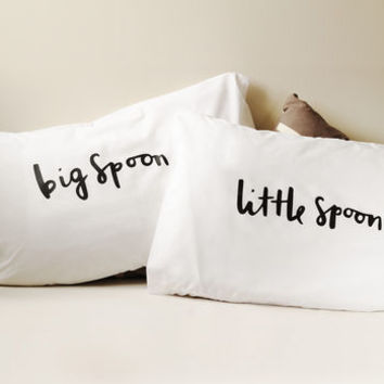 Big Spoon Little Spoon Pillow Cases