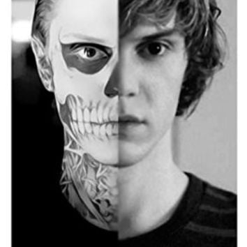 American Horror Story AHS Evan Peters Unsigned 11x17 Photograph Split Skull Face