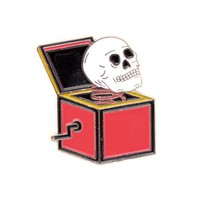 Skull In A Box Pin
