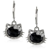 "Hello Kitty ""Silhouette"" Silver and Gold Earrings"
