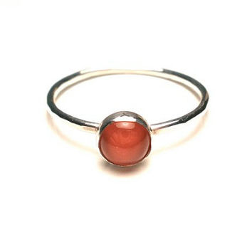 Carnelian Stacking Ring in Your Size