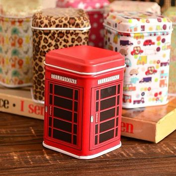 High Quality Metal Candy Trinket Tin Jewelry Iron Tea Coin Storage Square Box Case @018