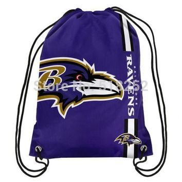 Baltimore Ravens Drawstring Backpack Customize Bags 35x45cm Sports Team,free shipping