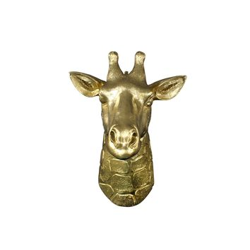 The Mini Zimbabwe | Mini Giraffe Head | Faux Taxidermy | Gold Resin