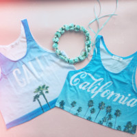 Cali Poster Crop Tank Top