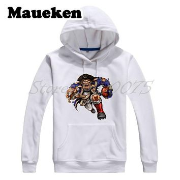 Men Hoodies Strong New England Powerhouse Die Cut RB Sweatshirts Thick for patriots fans gift Comic Cartoon Winter new england patriots