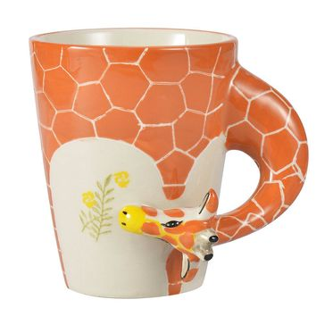 Hand Painted Giraffe Coffee Mug