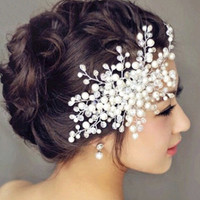 2015 New arrival bridal tiara women wedding jewelry pearl rhinestone pave crown bridal jewelry fashion hair accessories