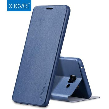 X-level For Samsung Galaxy A3 2016 A310 A310F Phone Case Ultra-thin Leather TPU Flip Cover For Samsung Galaxy A3 2017 A320 Case
