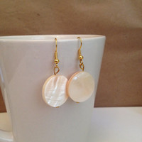 White Jade Stone Earrings